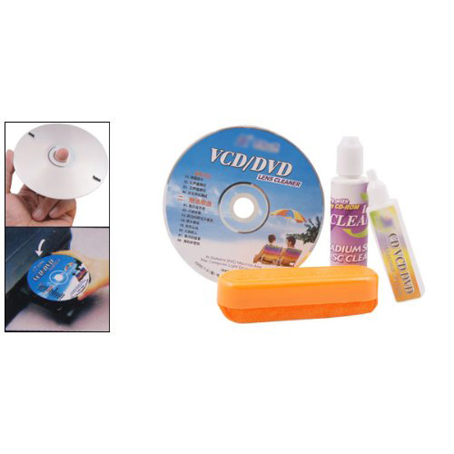 CAA-Hot 4 In 1 CD DVD Rom Player MaIntenance Lens Cleaning Kit(China (Mainland))