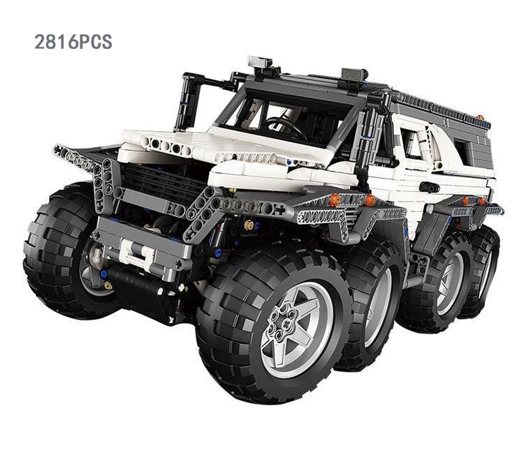 Hot MOC 8 motors AvtorosShaman Siberia Challenger SUV 8 wheel drive RC car building block com.withlego remote control toys(China (Mainland))
