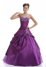 vestido de casamento roxo