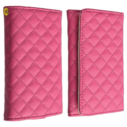 Leather Cell Phone Wallet Case, Hot Pink(China (Mainland))