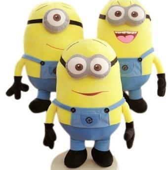 3pcs / set Despicable ME Movie Plush Toy 25cm Minion Jorge Stewart Dave free shipping(China (Mainland))