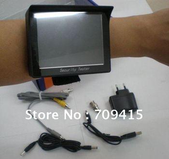 1pcs 3.5 inch TFT LCD wrist Monitor CCTV Tester Camera Test 12V Output ,CHINA POST Free shipping!!
