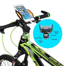 Newest External Cell Phone Power Bank Battery Pack 6000mAh for Cell Phones With Bicycle Handle Phone Mount Holder Bike Accessory(China (Mainland))