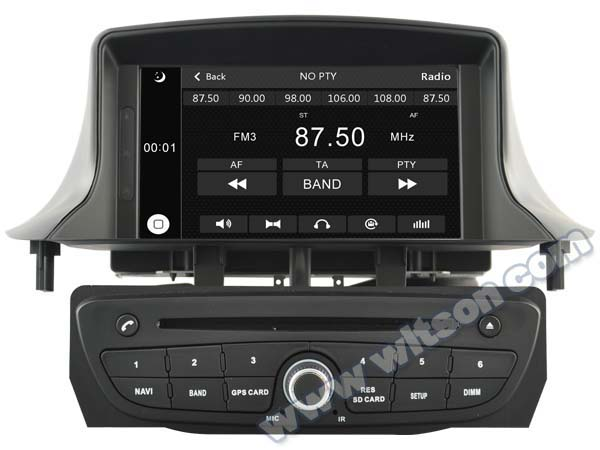 """7"""" Capacitive Touch Screen Special Car DVD for Renault Megane III 2009-2011 & Renault Fluence with Front DVR Camera Support(China (Mainland))"""