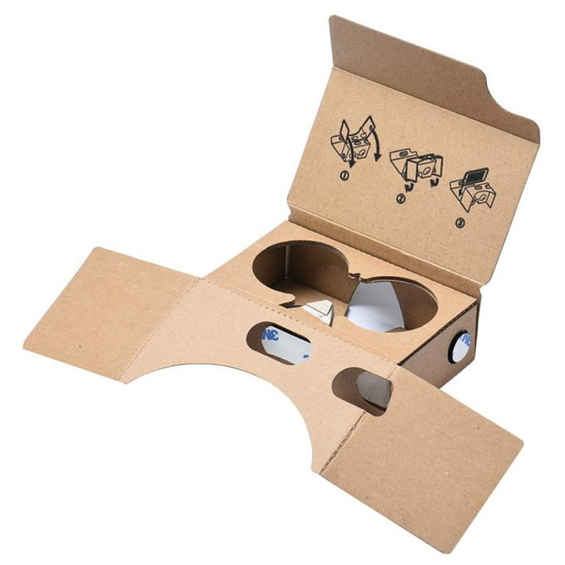 New 3D Google VR 2nd Box Virtual Reality Glasses Cardboard Game Movie for Smart Phone With 4-6 Inches Screen Free Shipping NOA23(China (Mainland))