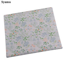 Syunss Colors Plant Floral Printed Cotton Fabric DIY Handmade Sewing Patchwork Baby Cloth Bedding Textile Quilting Tissus Tecido(China)