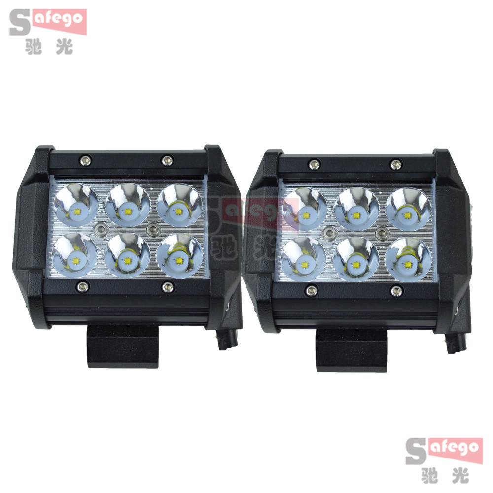 2pcs 4''18w led work light spot 30 degree 18w driving light fog for Tractor Truck Trailer led 18w 12v SUV 4x4 led off road bar(China (Mainland))