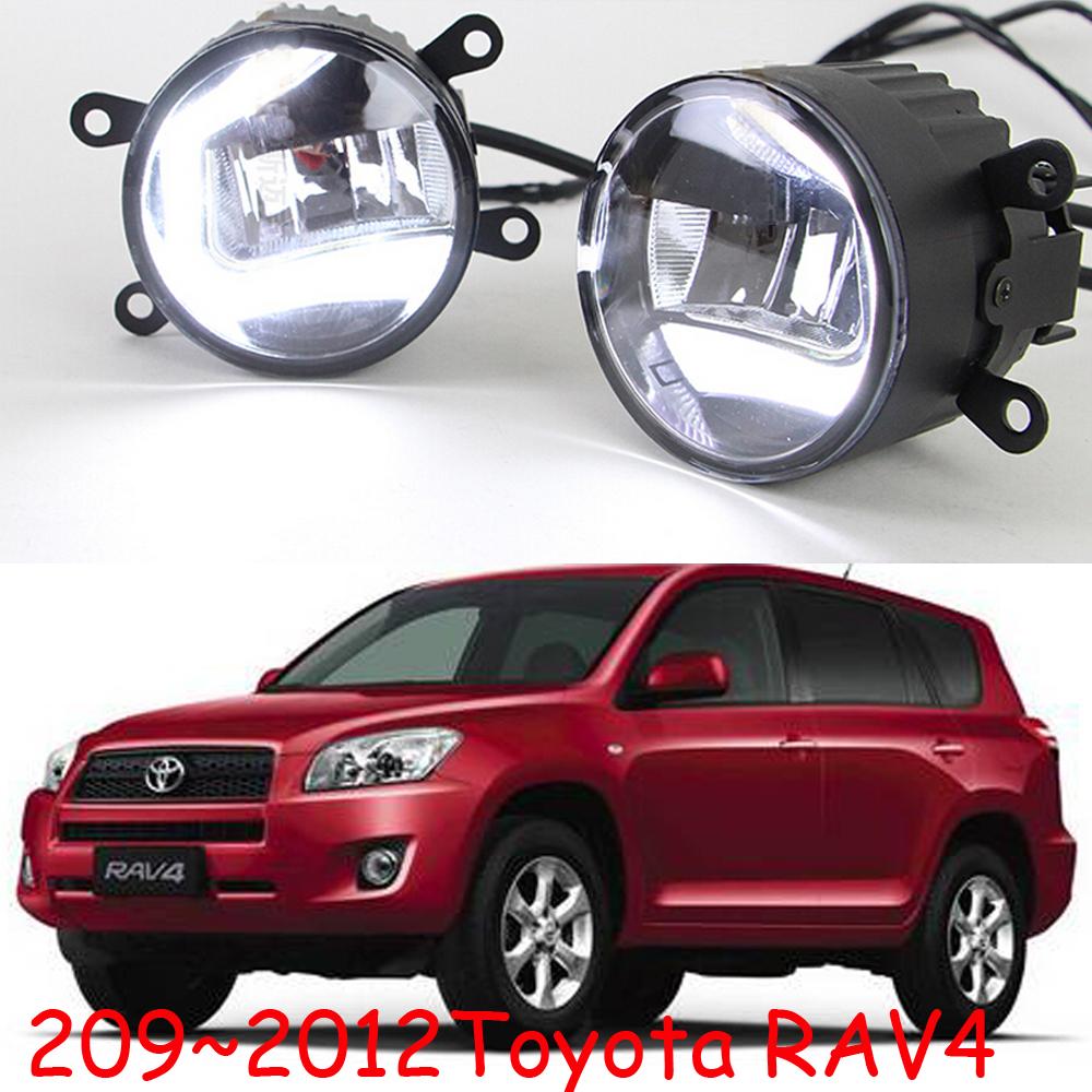 Osram 2009~2012Toyota RAV4 LED daytime running light,2pcs/set+wire of harness,12V,7W DRL 8000K+15W 6000K Fog,alloy+ABS,Free ship<br><br>Aliexpress