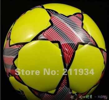 free shipping  size5 official Red star soccer ball & football, champions football, factory direct sale