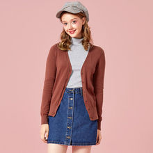 SEMIR punto Cardigan suéter mujer 2019 primavera Simple sólido recto inferior ropa suéter moda Cardigan para mujer(China)