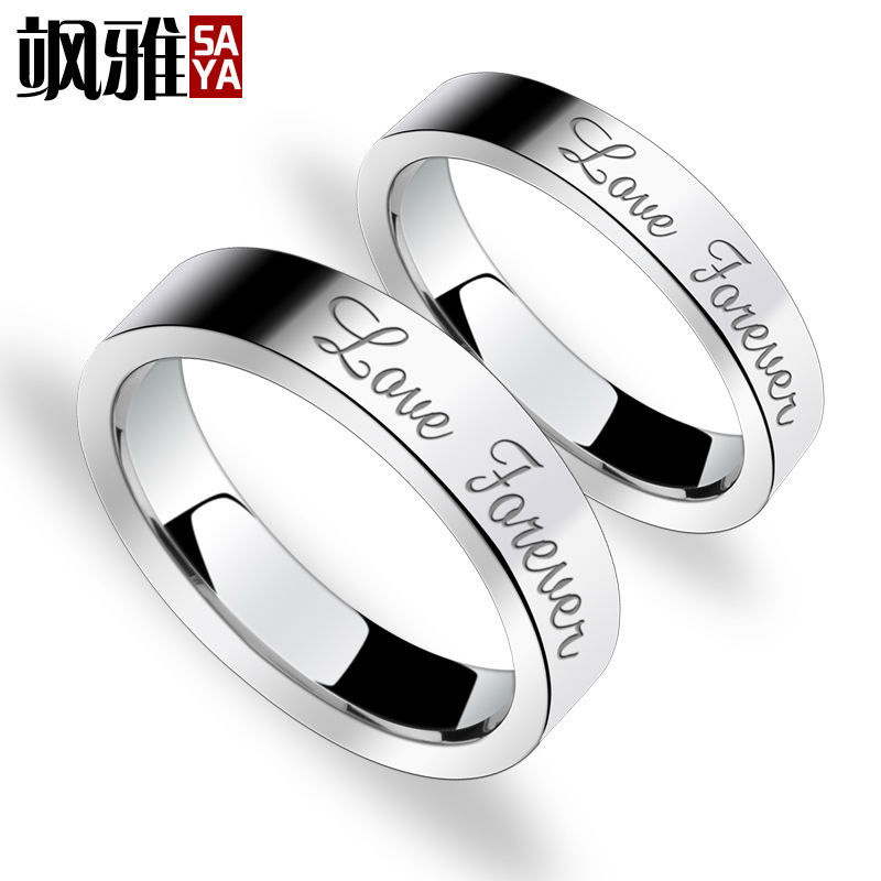 Men & Ladie's Rings 5MM/3.5MM Flat Shiny Laser Engrave Love Forever Tungsten Carbide Wedding Band Ring Set(China (Mainland))