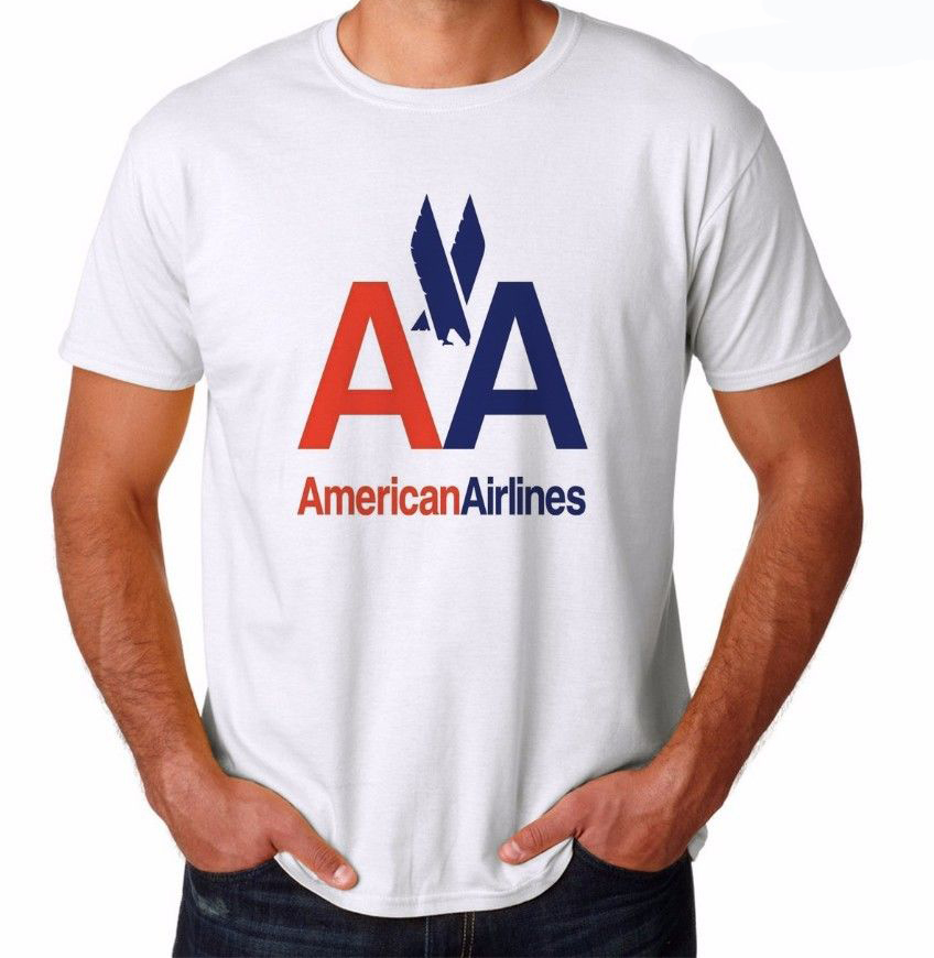 American Airlines 2015 brand new men's fashion cotton short-sleeve T-shirt t shirt mens(China (Mainland))