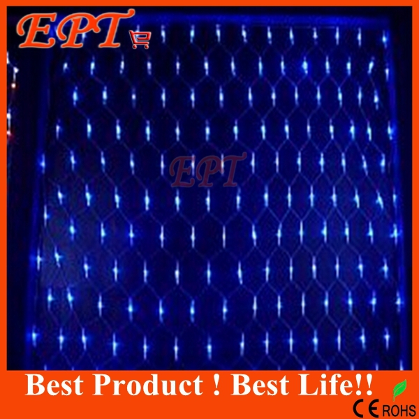 Free Shipping 1.5Mx1.5M 100 LED Outdoor Net Lights Christmas Xmas Fairy String Holiday Wedding Party Decoration AC 110V/220V(China (Mainland))