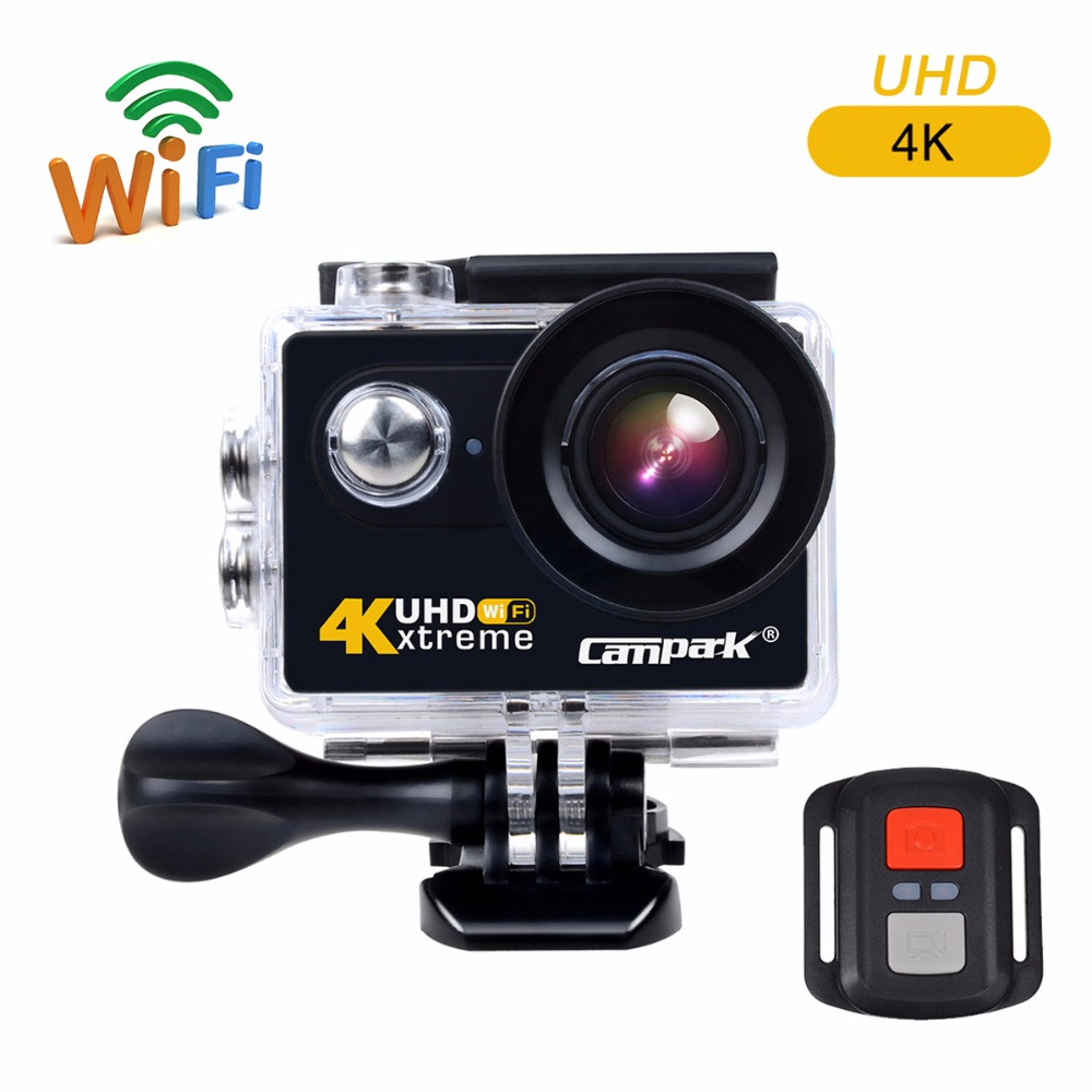 Campark ACT73R 4K Sport Action Camera 170 Wide Angle 12MP WIFI Underwater Camera Remote Control Camcorder for Helmet Diving Bike(China (Mainland))