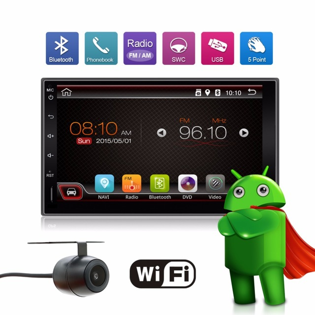 Universal 2 din Android 4.4 Car DVD player GPS+Wifi+Bluetooth+Radio+1GB CPU+DDR3+Capacitive Touch Screen+3G+car pc+aduio(China (Mainland))