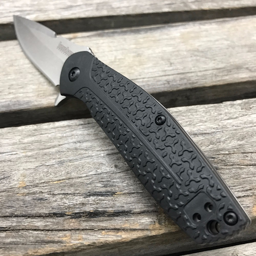 Buy LDT Kershaw 1970 Folding Knives Glass-filled Nylon Handle 8Cr13Mov Blade Flipper Camping Knife Survival Tactical Hunting Tools cheap