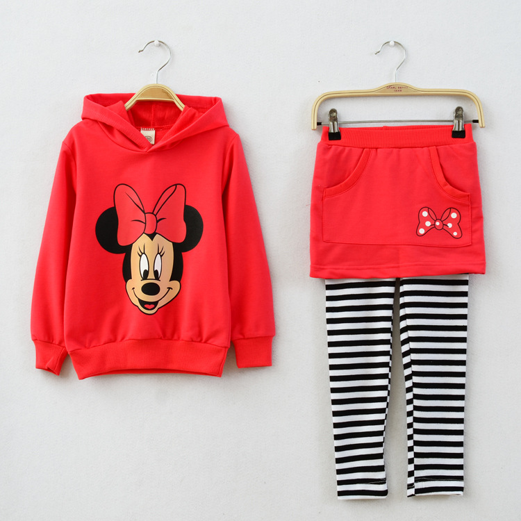 Clearance Wholesale New Kids Clothes Girl Baby Cotton Mouse Casual Suits Baby Clothing Retail Children Suits <br>