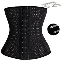 Women Hot Body Shaper Slimming Three Breasted Waist Tummy Belt Waist Cincher Underbust Control Corset Waist Trainer S-3XL(China (Mainland))