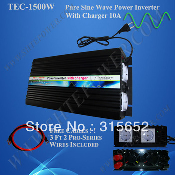 Factory sell 1500w pure sine wave solar inverter/home inverter/power inverter with 10A battery charger free shipping
