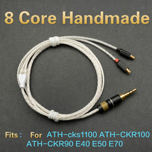 Buy OKCSC Crystal Silver 8 Core Arcolink Upgrade Cable Cord MMCX Audiophile HIFI Line CKS1100 CKS1100IS CKR100 CKR90 E40 E50 E70 for $47.98 in AliExpress store