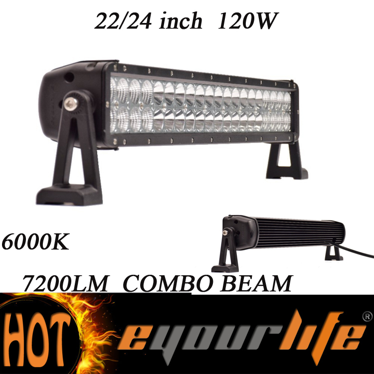 Eyourlife OSRAM 120W 22/24INCH Alloy Spot Flood Combo LED Work light Bar Driving Light Off Road 4WD 4X4Boat UTE SUV 12V/24V(China (Mainland))