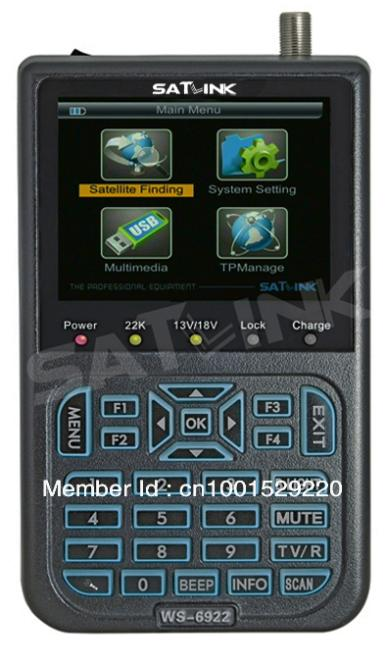 "SATlink WS 6922 HD Digital Satellite Finder Meter 3.5"" DVB-S & DVB-S2 Signal Finder(China (Mainland))"