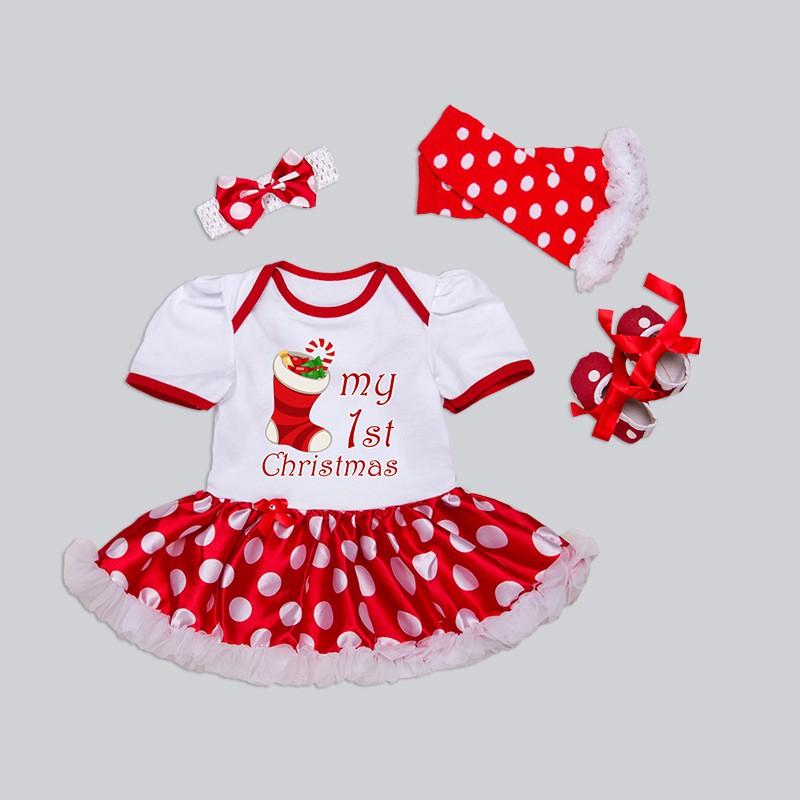 Ropa recién nacida de la Navidad Ropa de los bebés que fija mi primer  vestido del tutú de la colmena del vestido de la ropa del bebé de la Navidad  Ropa ... b4d9f606b65
