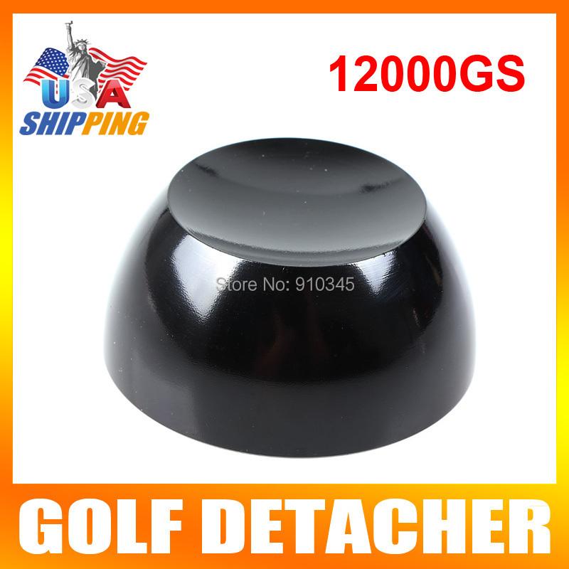 US Stock To USA Black Golf Detacher Tag Security Tag Remover Super Magnetic Force Detacher Hard Detacher Eas System 12000GS(China (Mainland))