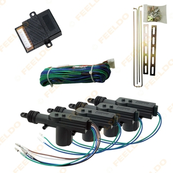 5Set DC12V Universal Car Power Central Locking System For 4 Doors #FD-1277