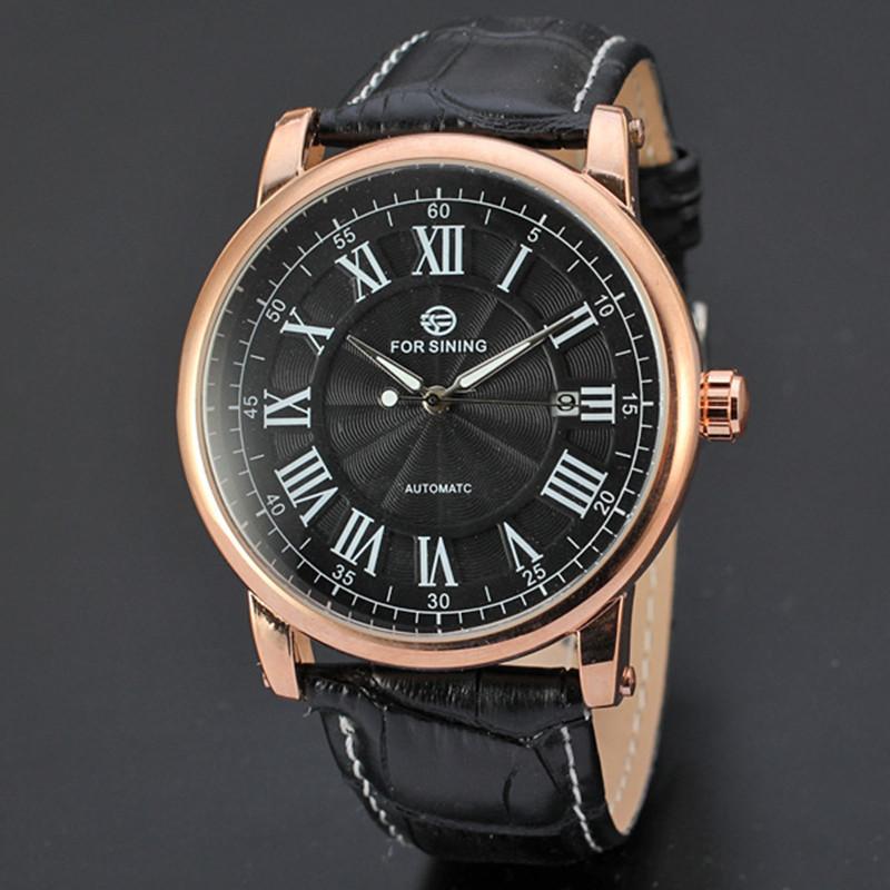 2015 Famous Brand Forsining Watches Men s Automatic Mechanical Watch Calendar Men s Wristwatch High Quality