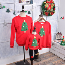 Family Matching Clothes 2017 Christmas Sweater Dress For Father Mother Son Daughter Baby Mon Dad Outfits Family Look(China)
