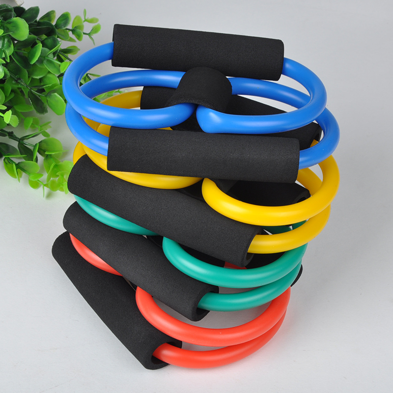 8-shaped chest developer chest expander tension device,yoga body bands elastic spring exerciser Resistance Bands HM800*60(China (Mainland))