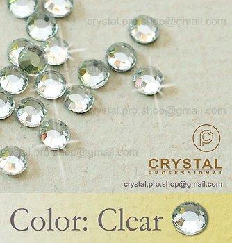 144 pcs. ss20 Crystal Clear 5mm wholesale bulk 20ss glass hot fix iron on design diy Loose bead stone FLATBACK hotfix rhinestone