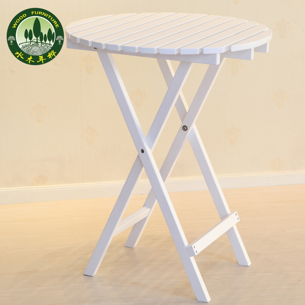 Mizuki White Folding Table In