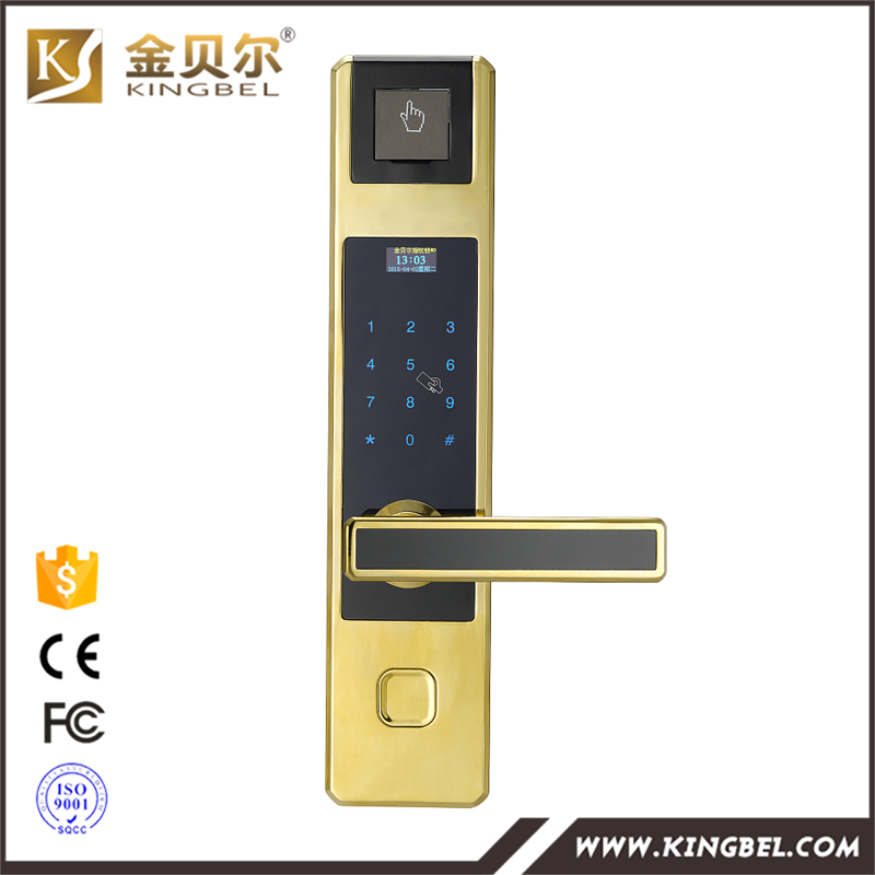 High quality and low price security fingerprint digital card door lock for sale(China (Mainland))