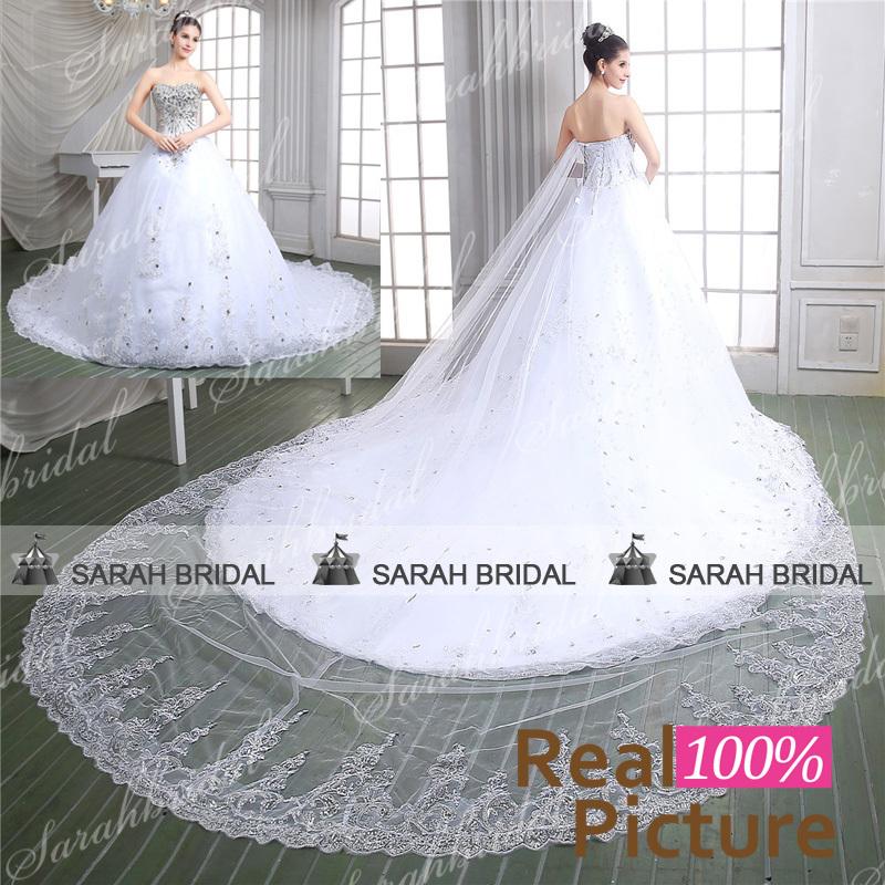 купить Свадебное платье Sarahbridal 2015 vestido noiva princesa 86115 недорого