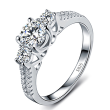 S925 Wedding Rings For Women platinum plated Jewelry Engagement Vintage Ring bague zirconia fashion bijoux Accessories MSR011