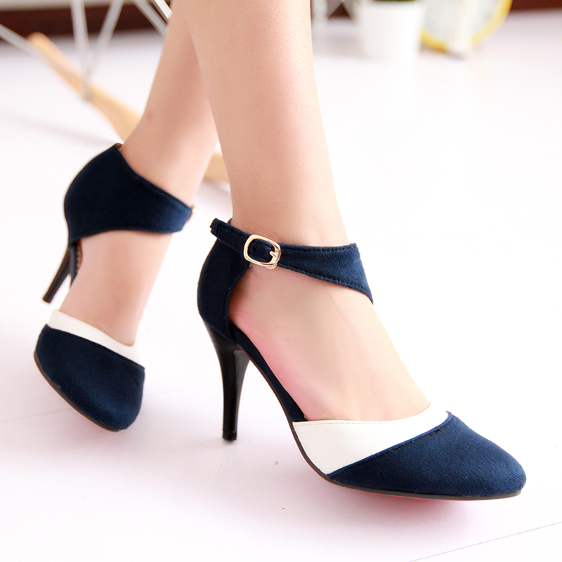 Big size 34-43 Hot 2014 fashion lady  high heels woman pumps and thin heels high heels sandals  women's summer autumn shoes