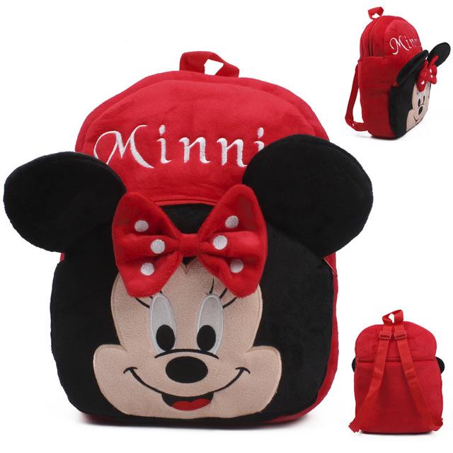 Высокое качество красный минни плюшевые мультфильм игрушки рюкзак дети характер школы подарок для девочек детей возрастом 3 - 5 Mochila Infantil