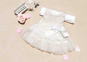Baby Girls Dresses Kids Bow Lace Princess Dresses Cotton Ball Gown Dresses