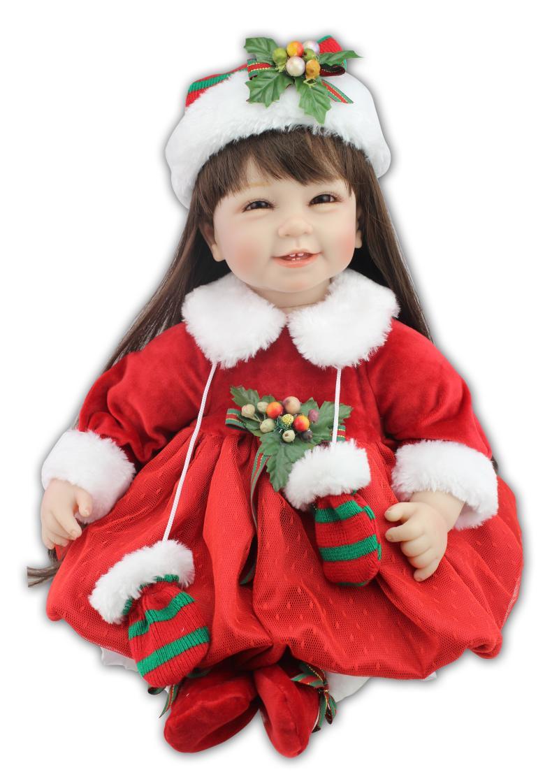 Com buy 22inch 55cm silicone baby reborn dolls christmas dress