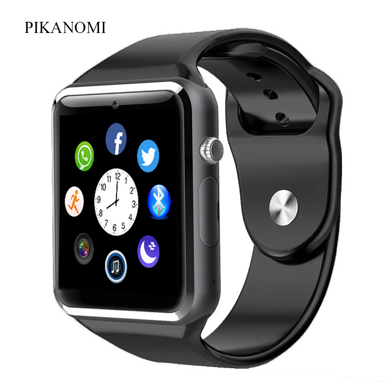 2017 1.56 Inch WristWatch Bluetooth Smart Watch Android With Camera Sim Card Smartwatch For IOS Iphone Russia Whatsapp Facebook(China (Mainland))