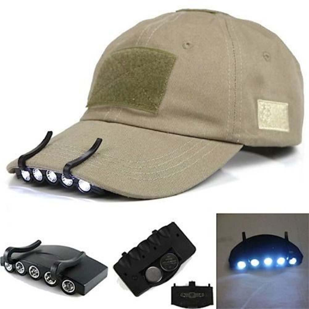 Buy clip on 5 led cap headlight headlamp for Fishing hats walmart