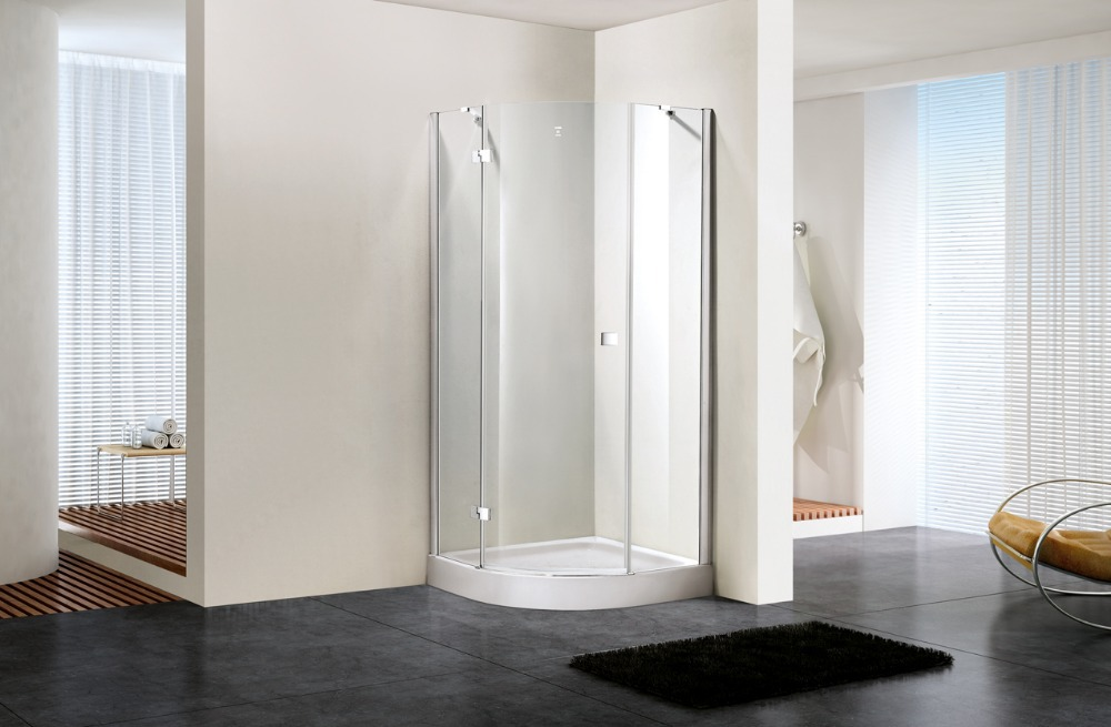 900*900*1950mm Walk In Hinge Shower Enclosure 8mm Glass Door Screen Cubicle DY-DX391L(China (Mainland))