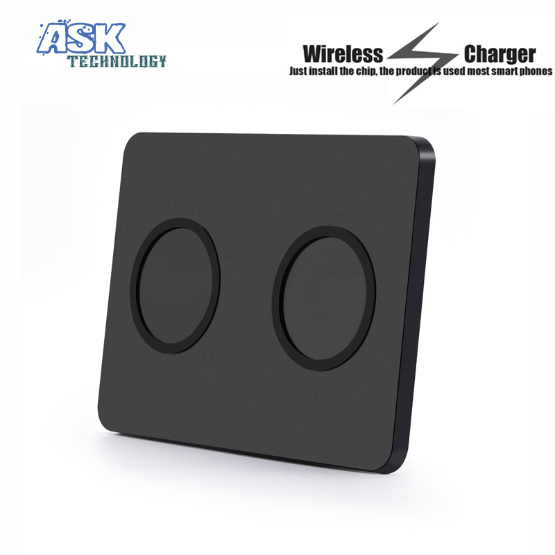 Q300 Dual Qi Wireless Charger Pad Transmitter Ultra Thin Charging Station for Samsung S5 S6 Edge(China (Mainland))