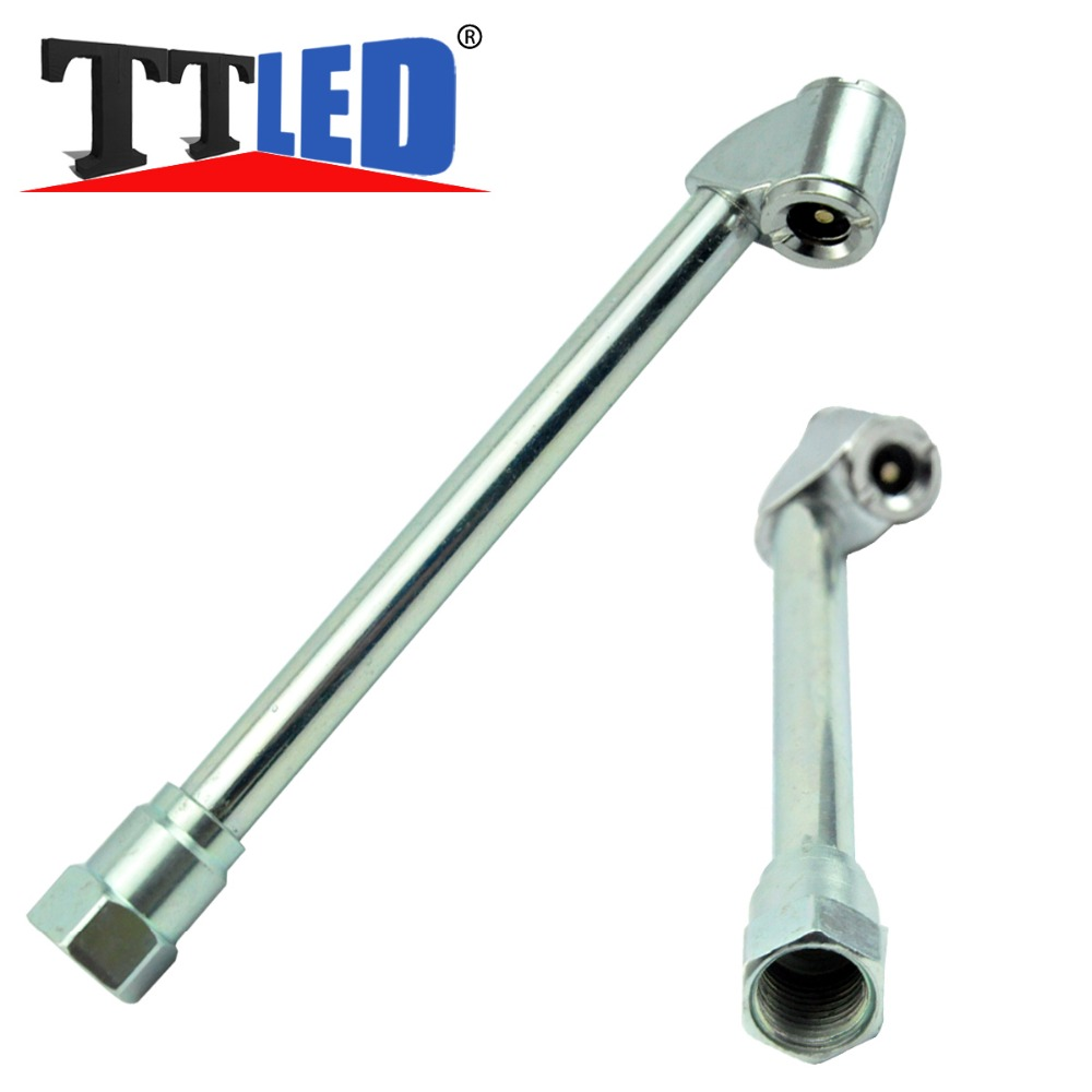 """Free Shipping Tyre Repair Tool 6"""" Long Angle Head 1/4"""" Dual Foot Chrome Plated Air Chuck NOT Tilt-Lock Tire Inflating Air Chuck(China (Mainland))"""