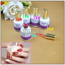 5 Type Colors Glitter Fashion Nail Art Polish Soak-off UV Gel Wholesale Free Shipping 3248(China (Mainland))