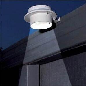 2pcs/lot Solar 3LED solar energy sink fence lamp corridor wall lamp solar energy lamp(China (Mainland))