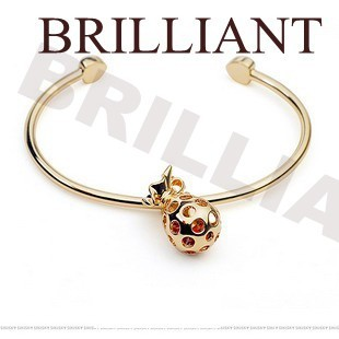 BB228 Lovely pineapple rhinestone 18K Rose Gold Plated Bangles Bracelets Jewelry made Genuine Austria Crystals - Brilliant store