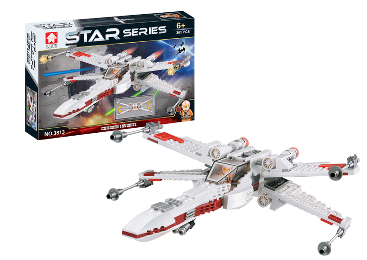 Гаджет  Star Wars X-Wing Fighter Blocks Compatible with Lego Star Wars Bricks Educational Toys Model Building Kits C0A580 None Игрушки и Хобби